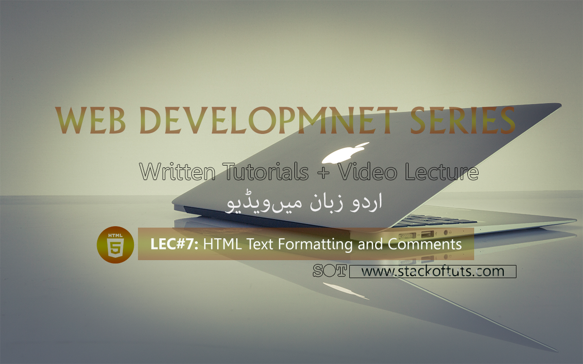 HTML Text Formatting | Comments