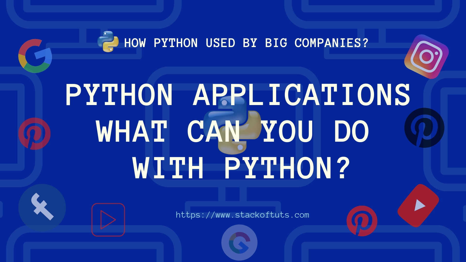 What can you do with Python or Python Applications?