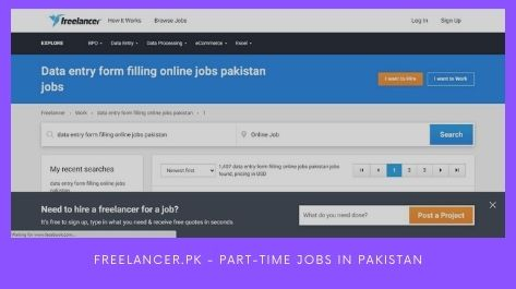 Freelancer.pk Part-time jobs in Pakistan