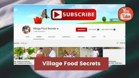 Village food secrets Top youtube channels in Pakistan