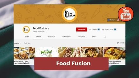 food fusion Top youtube channels in Pakistan